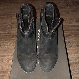 Rag and bone harrow boot- black suede